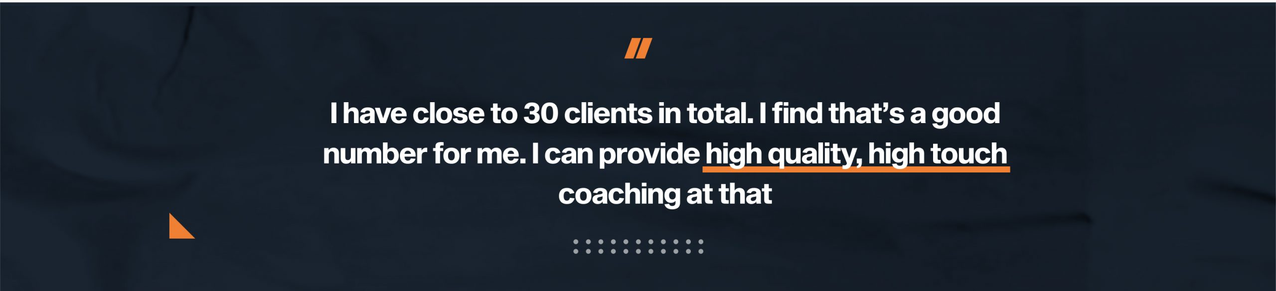 Patryk was talking about the clients he is coaching online now at his fitness business